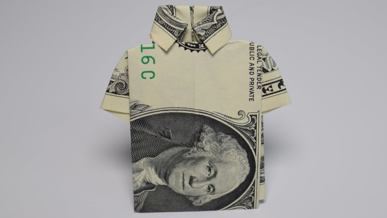 Dollar Origami Shirt 1 Dollar Easy Tutorials And How Tos For