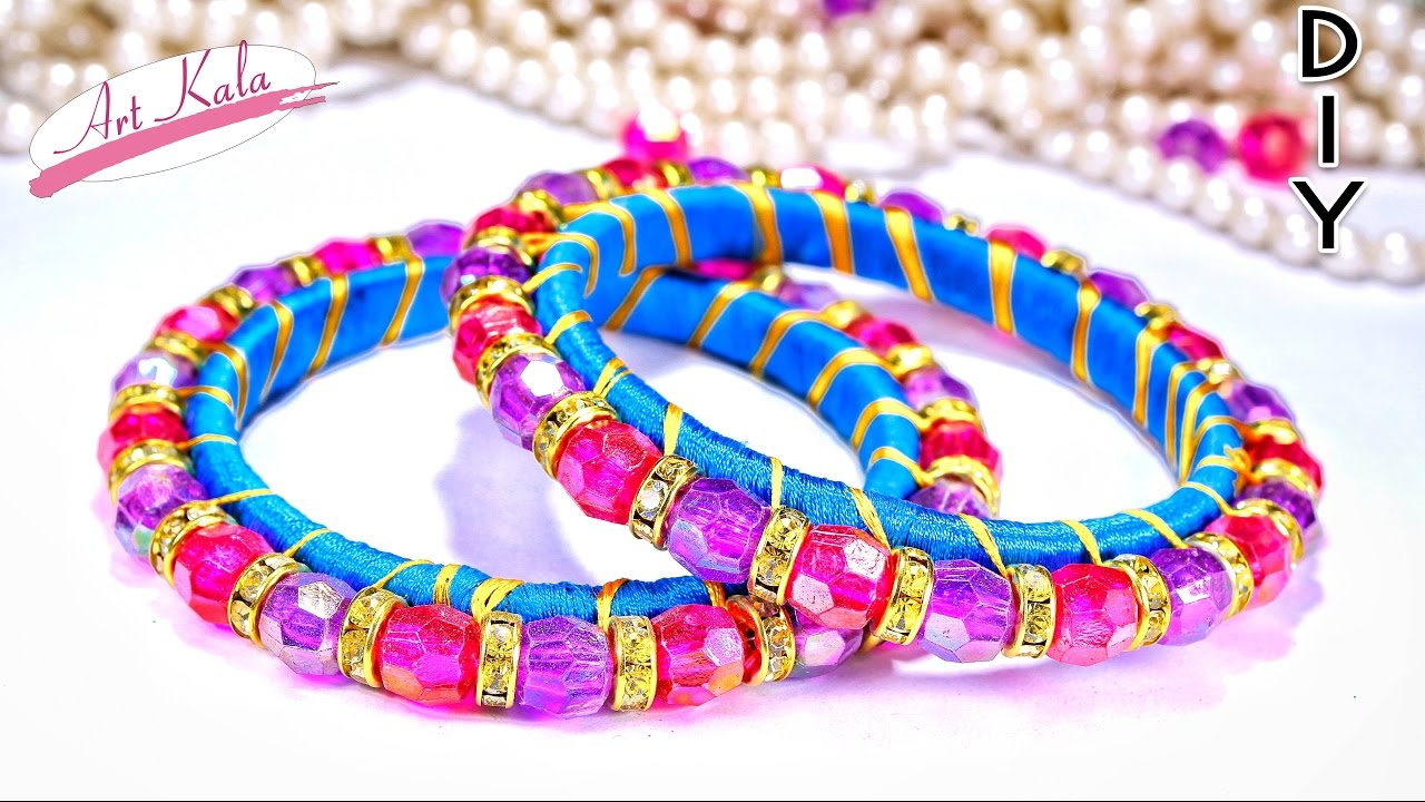 How To Make Silk Thread Bangles From Waste Bangles