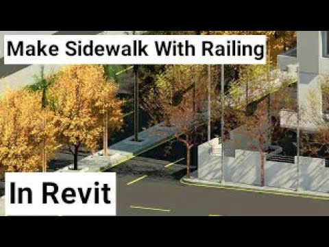 Revit Architecture| How to Create Sidewalk and Road Stripes