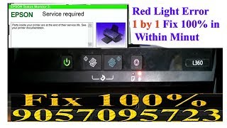 EPSON L220, L360, L380, L383, Service Required Solution Red