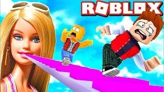 BARBIE FOLLOWS US IN ROBLOX!