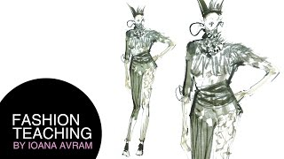 How to draw a fashion sketch in copic markers Thumbnail