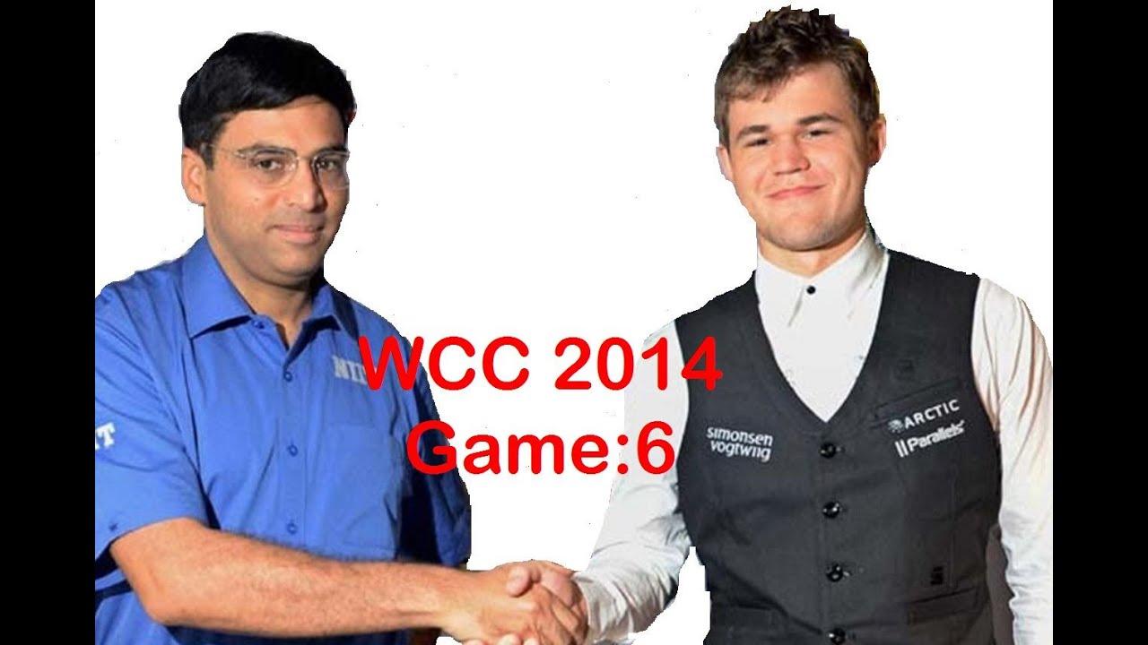 World Chess Championship 2014 Carlsen vs Anand Game 6 ...