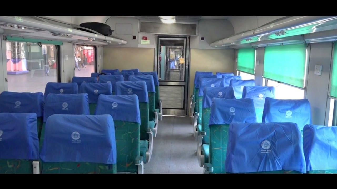 beautiful ac chair car coach interiors of ahmedabad mumbai shatabdi express youtube. Black Bedroom Furniture Sets. Home Design Ideas
