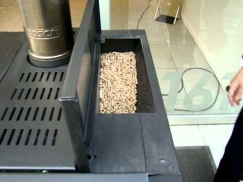 Funcionamiento calefactor pellet youtube for Combustion lenta amesti