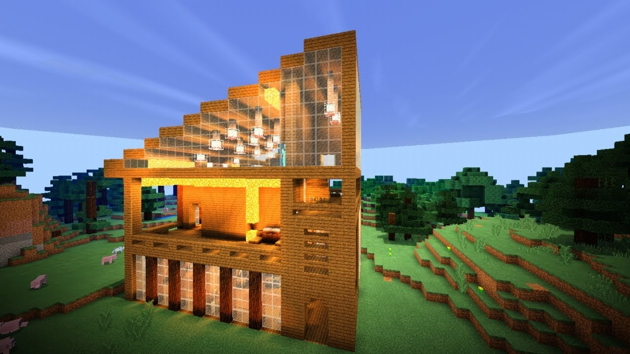 дома в лесу для майнкрафт #2