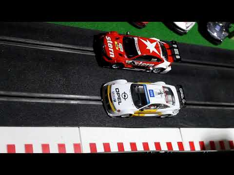 16-Mercedes C-coupe Scalextric scx VS Opel Calibra Slot.it, DTM