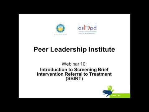 Peer Leadership Institute: Webinar 10