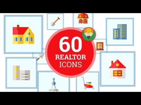 Icons Pack Accommodation Construction Realtor Flat Animated Icons by animated-icons| AE Template