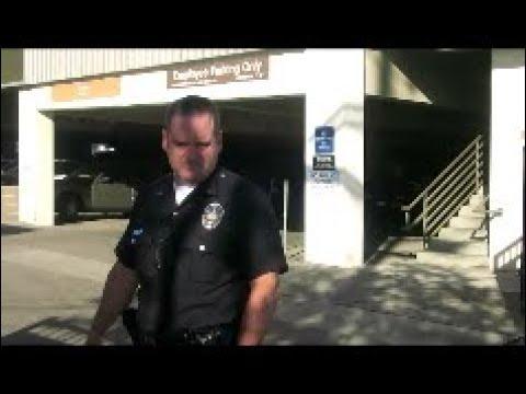 Foot Hill PD. 1st Amendment Audit. San Fernando Mission Vlog. EARPHONES PLEASE.