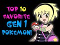 Top 10 Favorite Gen 1 Pokemon