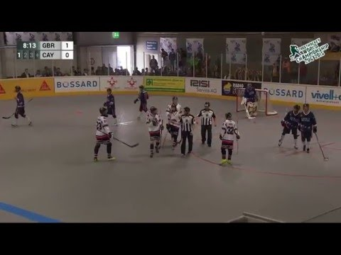 Great Britain vs Cayman Islands 2015 World Ball Hockey Championships June 21 2015 in Zug