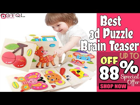 Best Baby Toys Wooden 3d Puzzle Brain Teaser For Kids 2020