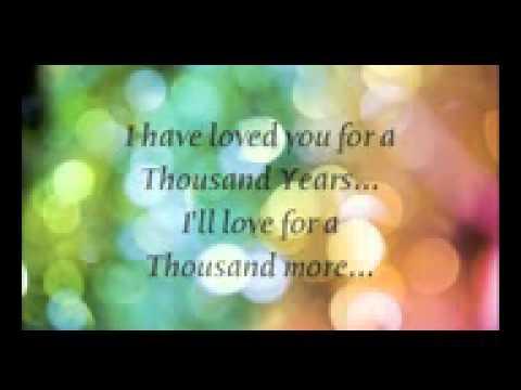 A Thousand Years - Christina Perri Lyrics - YouTube_2.3GP///