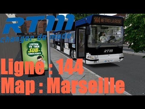 Map: Marseille Ligne 144 /////// Bus: Renault Agora [OMSI2]