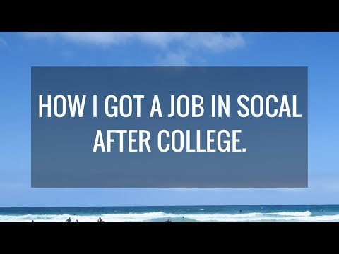 How I Got A Job Straight Out of College | Post Grad Series