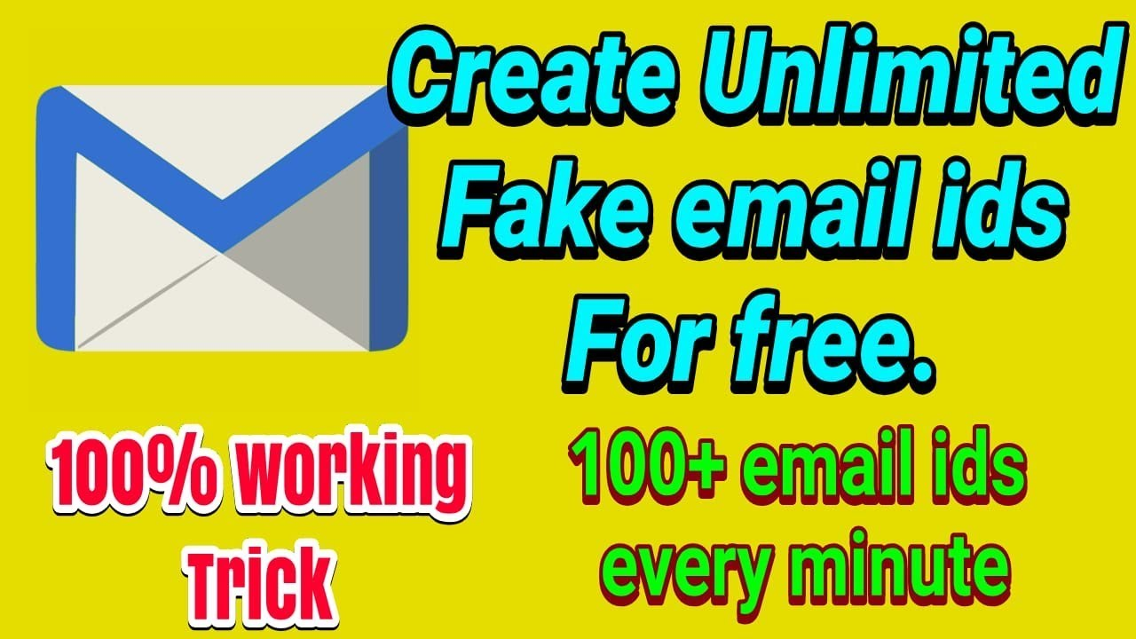 Create Unlimited Temporary Email Ids Within Seconds 2020 New Trick Fake Email Generator Youtube