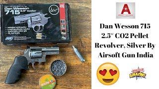 Dan Wesson 715 2.5″ CO2 Pellet Revolver, Silver By Airsoft Gun India