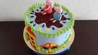 Торт Свинка Пеппа.Кремовый.