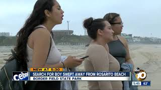 Family searches for boy swept away in Rosarito