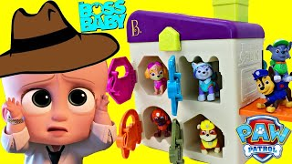 Boss Baby Rescues Paw Patrol Hunt Critter Clinic + Learning Colors Learn Shapes Keys With Chase Pup