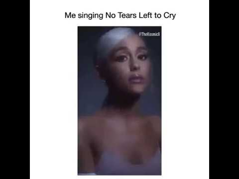Ariana Grande - me singing No tears left to cry 😂