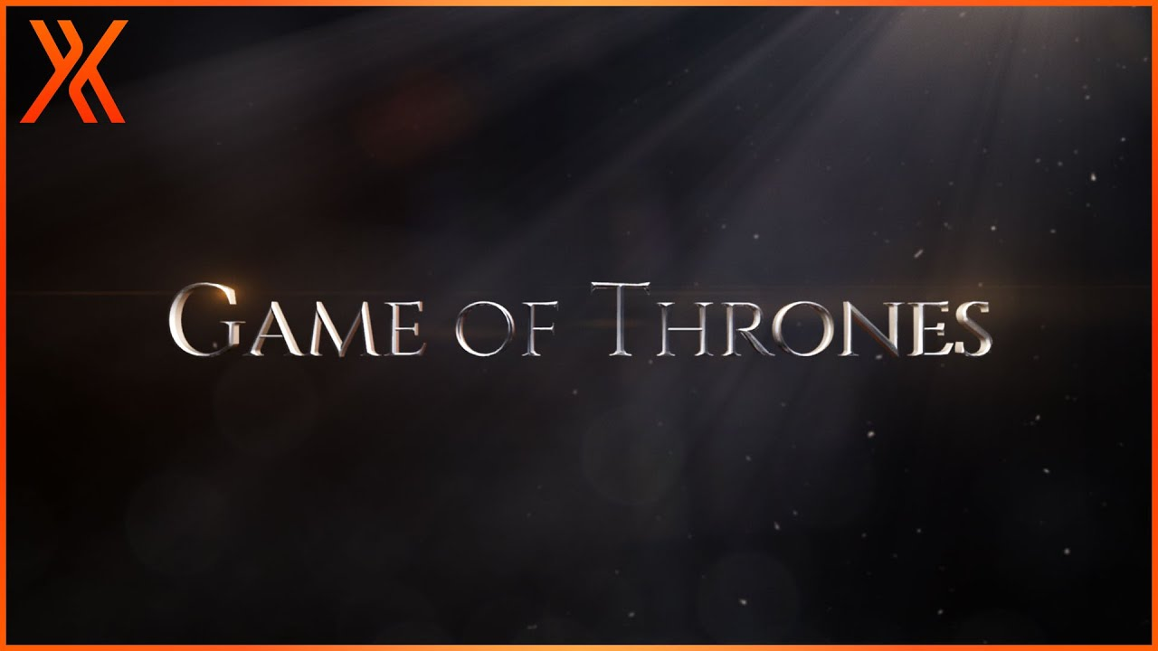 How to create metallic Game of Thrones titles