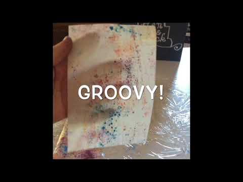 Splatter Paint Effect On Wafer Paper