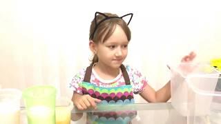 Ралинка Снежинка готовит радужный торт по рецепту торт Зебра. Rainbow cake