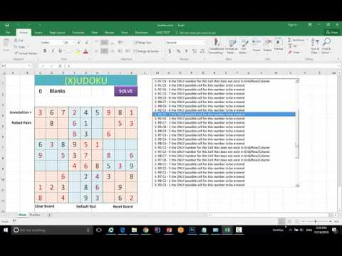 advanced vba excel macro sudoku solver youtube