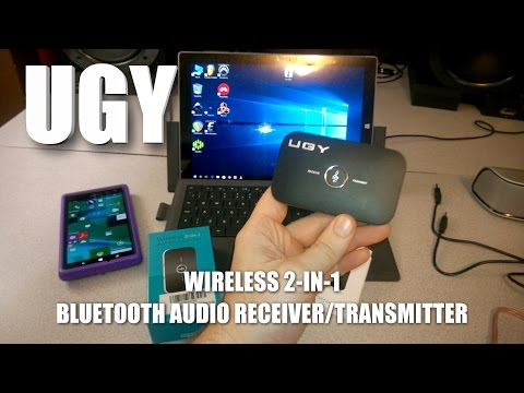 UGY Wireless 2-in-1 Bluetooth Audio Receiver/Transmitter Demo - REALLY COOL DEVICE!