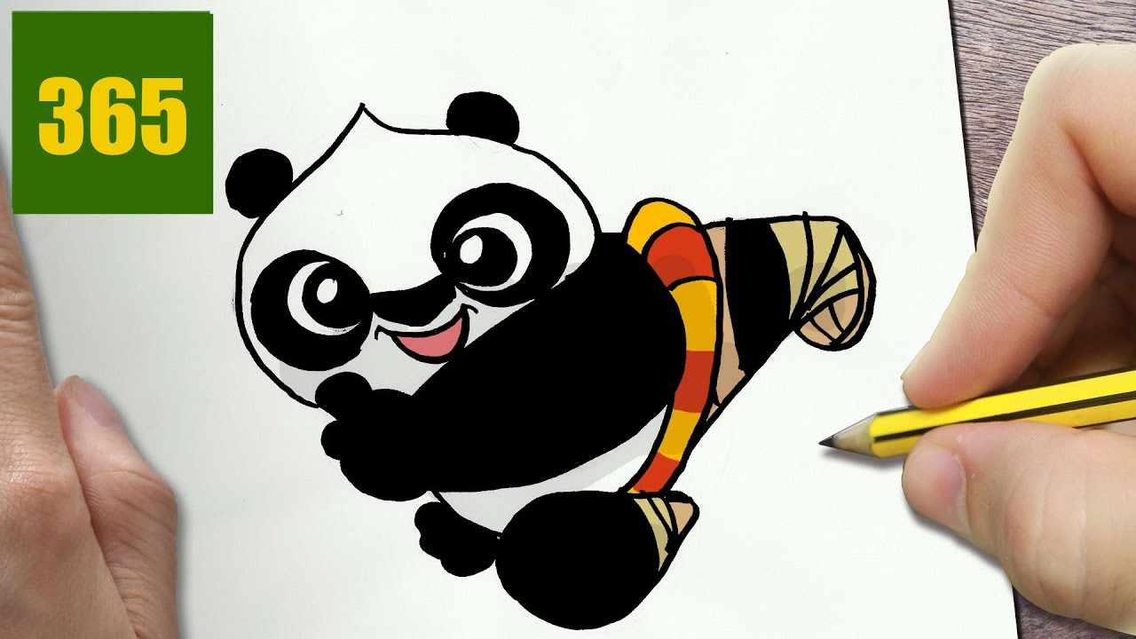 Comment Dessiner Po Kunfu Panda Kawaii étape Par étape Dessins Kawaii Facile