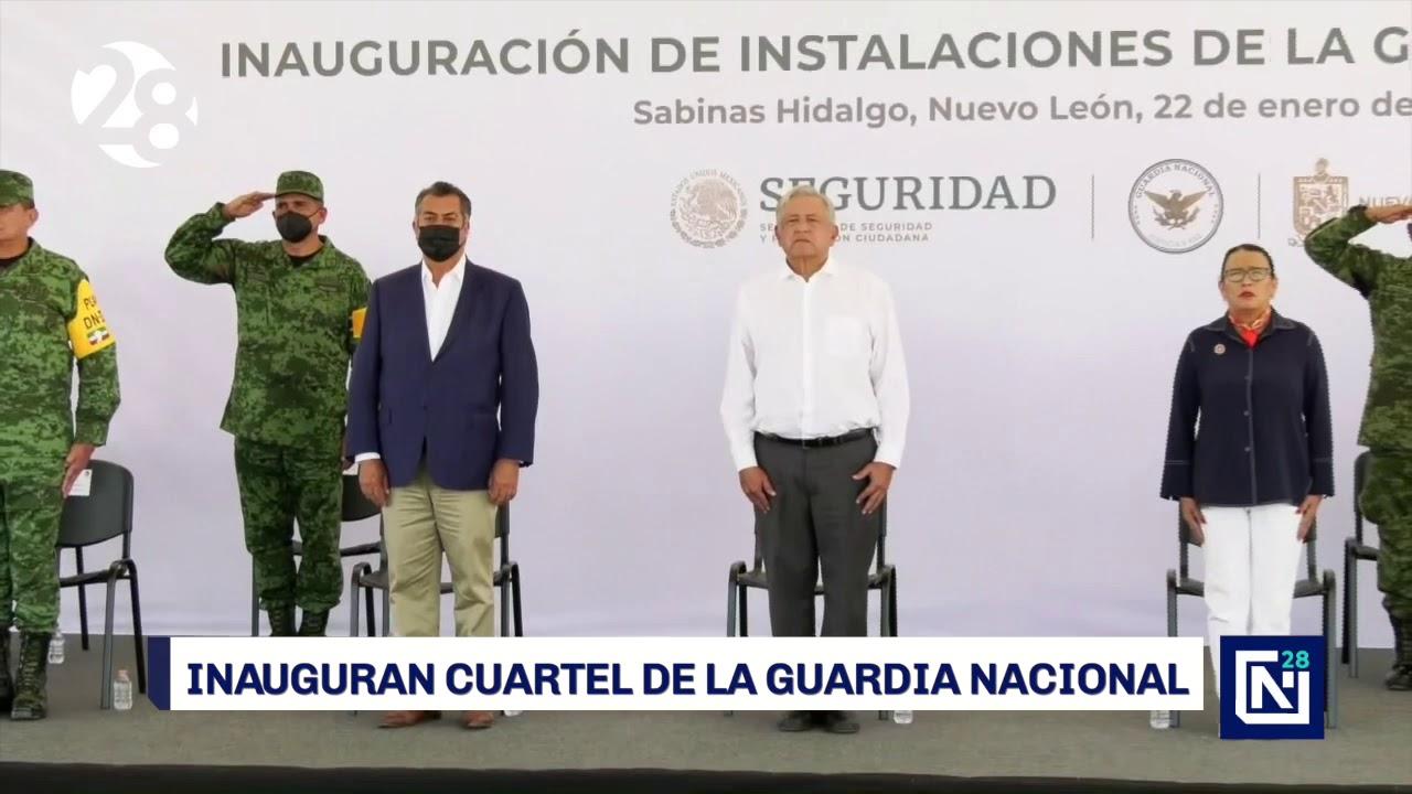 Inaugura AMLO cuartel de la Guardia Nacional en Sabinas Hidalgo