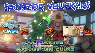 🔴TURNIR / NAGRADNI FOND 200€!!! / 5000 V-Bucks x2, Minty Axe x2 , 50€ x2!!! / SPONZOR @vbucks.rs 🔴