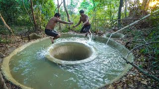 Build Tunnel  Swimming Pool Water Slide To Temple Underground Swimming Pool