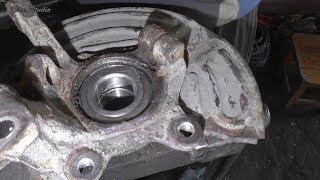 Замена подшипника передней ступицы Renault Kangoo