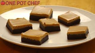 3 Ingredient Chocolate Peanut Butter Fudge  One Pot Chef