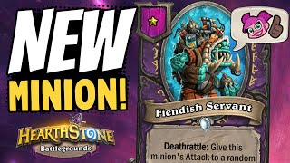 FIENDISH SERVANT IS CRAZY!! See a Tier 1 Minion Carry!   Battlegrounds   Hearthstone