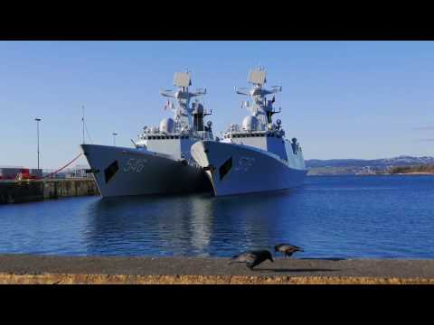 Chinese Navy Ships visit Victoria BC Harbour