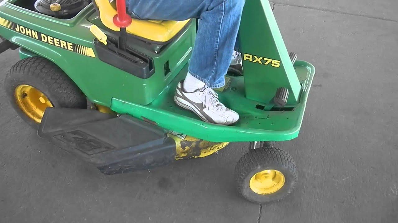 John Deere Riding Mower Rx75