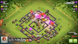 Clash of clans TH 8 dragons and baloons new tactic