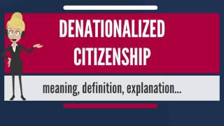 What is DENATIONALIZED CITIZENSHIP? What does DENATIONALIZED CITIZENSHIP mean?