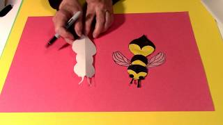 Easy to draw Bee,Yellow Jacket