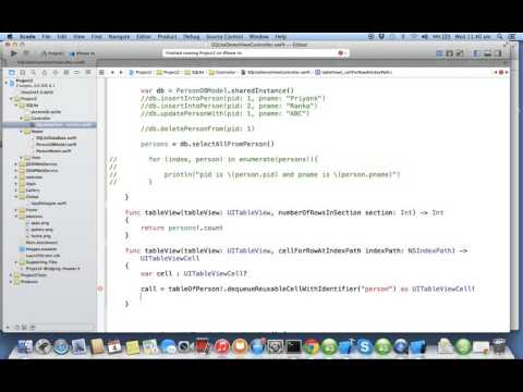 iOS Swift sqlite creating table | Nimap Infotech - Tutorial 93