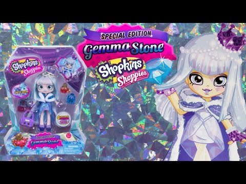 Special Edition Gemma Stone Shoppies Doll with 4 Exclusive Shopkins