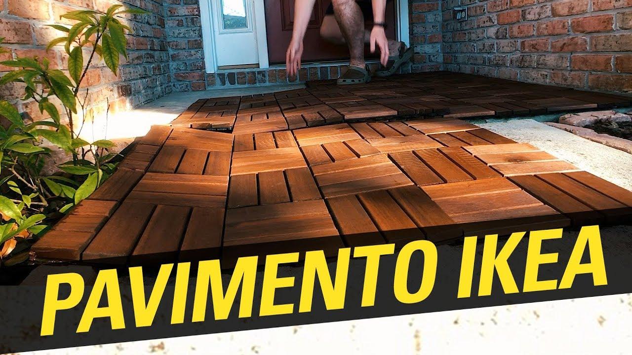 installazione pavimento di ikea runnen per esterno youtube