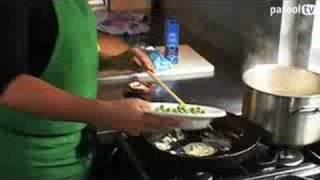Pancetta E Fagioli Maakt Spaghetti Al Limone