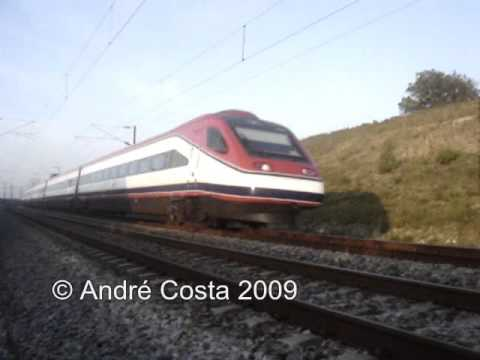 Full Speed: CP 4000 Alfa Pendular passa a 220 km/h no Setil