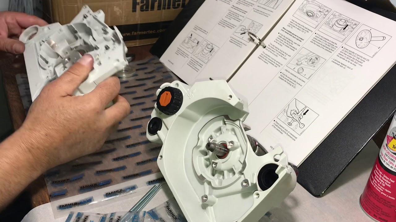 Huztl Farmertec MS660 Crankcase Assembly