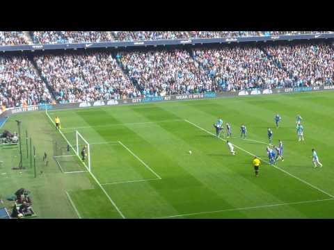 Manchester City v Everton Sergio Aguero Penalty